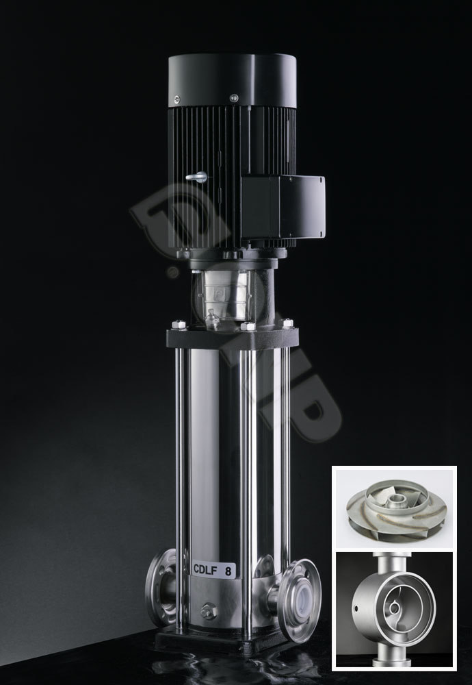 CNP Light Vertical Multistage Centrifugal Stainless Steel Pump CDLF 150-40 SS304 Stainless (55 Kw/150 m3/h)