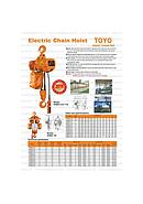 [IT.0032088] Toyo HHBD Electric Chain Hoist 5 ton x 6 meter ( speed 2,8m/min ) ( 3F 380 V )