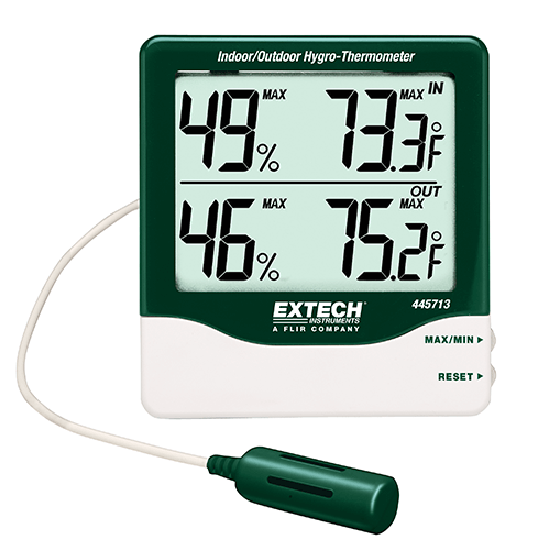 Extech Big Digit Indoor/Outdoor Hygro-Thermometer