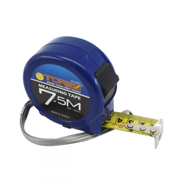 Tora Measuring Tape Blue And Black (3m - 7.5m / 16 mm-25 mm)