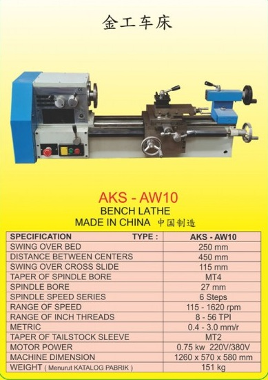 AKS Bench Lathe (With Stand) AKS-AW10WS