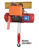 Powertech Electric Wire Rope Hoist CD1 (3 Ton x 12 Meter + Trolley ) (3F 380V Speed 8 M/min)