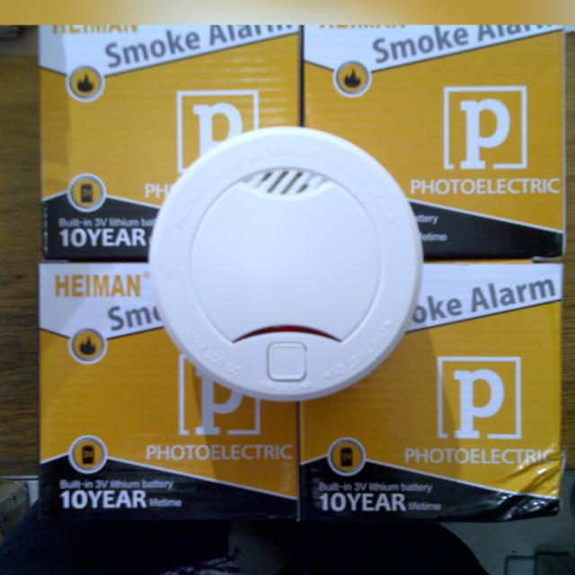 Heiman Mini Smoke Alarm, Small Fire Alarm With Battery
