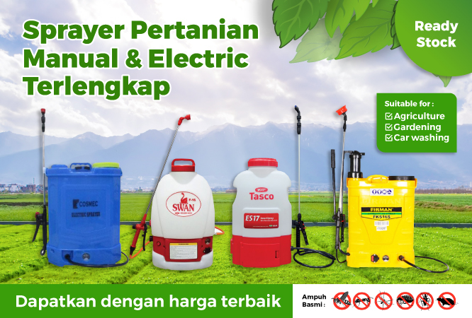 Banner Sprayer Manual Electric Terlengkap
